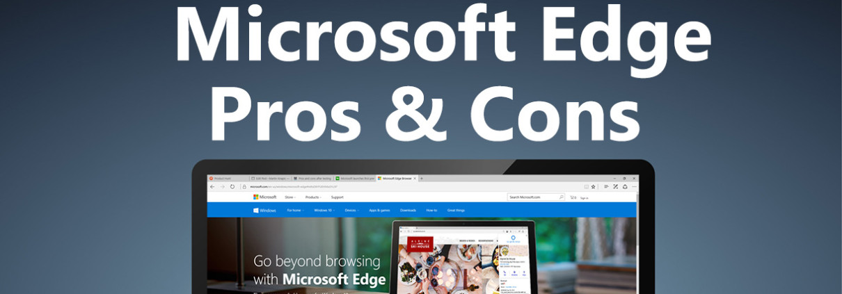 Microsoft Edge browser on a laptop