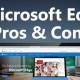 Microsoft Edge browser on a laptop